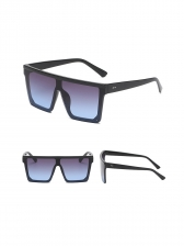 Fashion Square Frame Gradient Color Sunglasses