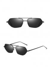 Polygonal Irregular Metal Frame Sunglasses For Women