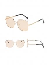 Fashion Square Frame Metal Chain Sunglasses