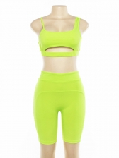 Euro Solid Color Hollow Out Women Gym Outfits