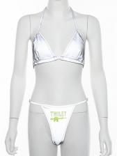 Sexy Halter Wire Free Women Bra Set