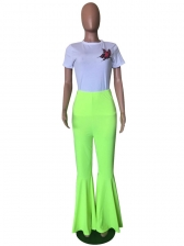 Hot Sale Solid Flare Pants For Women
