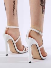 Pointed Toe Cross Belt High Heeled Sandals