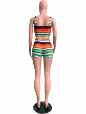 Summer Sexy Colorful Striped 2 Piece Swimsuit