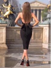 Halter Backless Bodycon Midi Ladies Dresses
