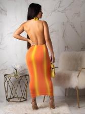 Nigh Club Solid Bodycon Fitted Straps Midi Dresses