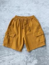 Solid Color Beach Short Pants For Men