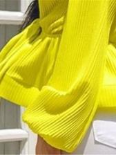 Solid Deep V Neck Lantern Sleeve Women Blouses