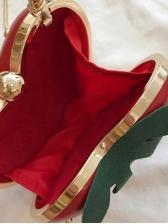Fashion Strawberry Shape Crossbody Bag With Chain