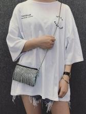 Rivets Decor Tassel Mini Crossbody Bag