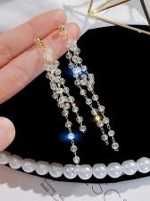 Tassels Shinning Rhinestone Earrings For Women