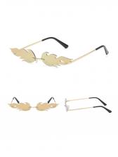 Stylish Flame Pattern Rimless Unisex Sunglasses
