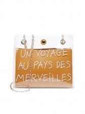 Letter Large Capacity Transparent Shoulder Bag