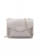 Fashion Hasp Solid Chain Crossbody Bag
