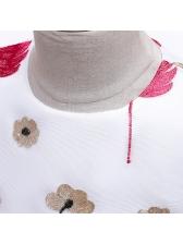 Flower Printed Sleeveless Gauze Girls Dress
