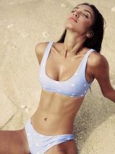U Neck Heart Printed Bikini For Women