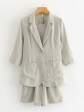 Lace Up Fitted 3 Piece Ladies Suits For Work