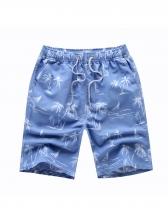 Stylish Printed Drawstring Mens Casual Shorts