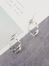Stylish Double Spiral Women Earrings