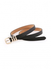 Fashion Solid Metal Buckle Belt For Women