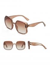 Vintage Square Frame Gradient Color Sunglasses