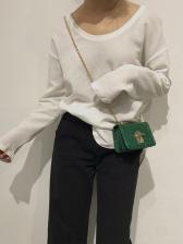 French Design Alligator Printed Chain Shoulder Bags