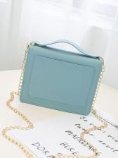 Fresh PVC Chain Shoulder Bags For Women