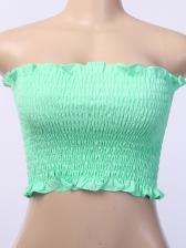 Elastic Sexy Plaid Ladies Strapless Cami Top
