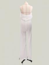 Sexy Elegant Off Shoulder White Women Jumpsuits