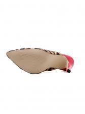 Pointed Toe Leopard Heeled Ladies Slipper