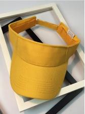 Summer Solid Color Outdoor Velcro Unisex Visor Hat