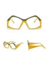 Individual Polygon Contrast Color Frame Women Sunglasses