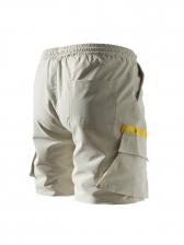 Leisure Contrast Color Half Shorts For Men