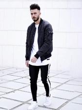 Skinny Leisure Contrast Color Long Pants For Men