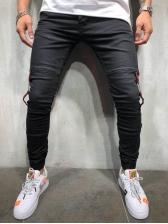 Fashion Contrast Color Male Jogger Pants