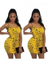 Sexy Leopard Backless Straps Dress