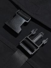 Fashion Letter Multi-Pockets Men Cargo Waistcoat