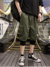 Easy Matching Drawstring Pockets Jogger Pants