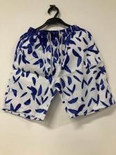 Fashion Printed Drawstring Mens Casual Shorts