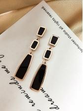 Easy Matching Geometric Long Earrings