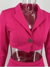 Lapel Collar Buttons Up 2 Piece Sets