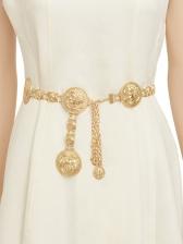 Easy Matching Metal Waist Chain Alloy Women Belts