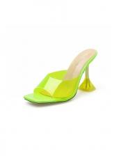 Slip On Solid Square Toe Ladies Slippers