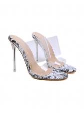 Animal Printed Heeled Sandal Womens Shoes Sale