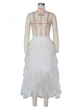 Sweet Irregular Tiered Bubble High Waist Skirt