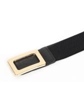 Vintage Metal Buckle Wide Belt For Women