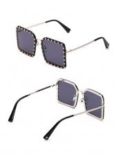 Rivet Square Fashion Sunglasses For Women