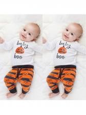 Halloween Pumpkin Printed Pants Boy Clothing Sets