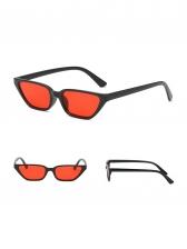 Retro Cat Eye Pattern Color Block Sunglasses