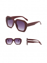 Polygon Vintage Color Block Easy Matching Sunglasses